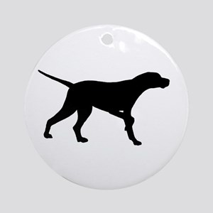 Pointer Dog On Point Ornament (Round)