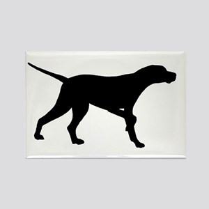 Pointer Dog On Point Rectangle Magnet