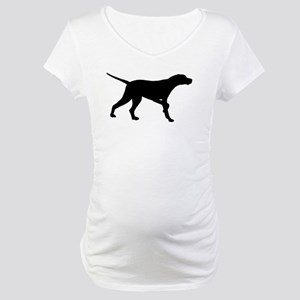 Pointer Dog On Point Maternity T-Shirt