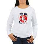 Play Boy Flour Women's Long Sleeve T-Shirt