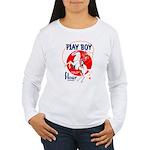 Play Boy Flour Women's Long Sleeve T-Shirt