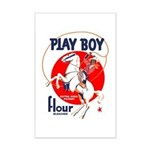Play Boy Flour Mini Poster Print