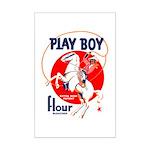 Play Boy Flour Mini Poster Print