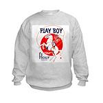 Play Boy Flour Kids Sweatshirt