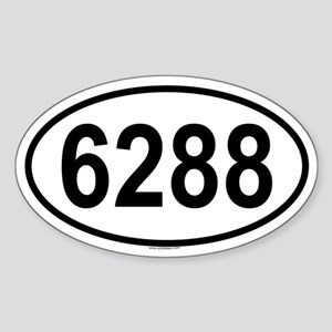 6288 Oval Sticker