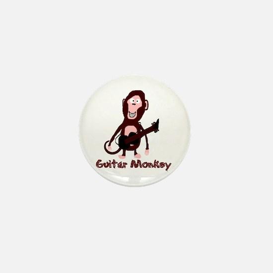 guitar monkey Mini Button