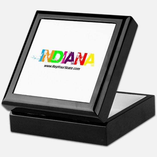 Colorful Indiana Keepsake Box