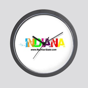 Colorful Indiana Wall Clock