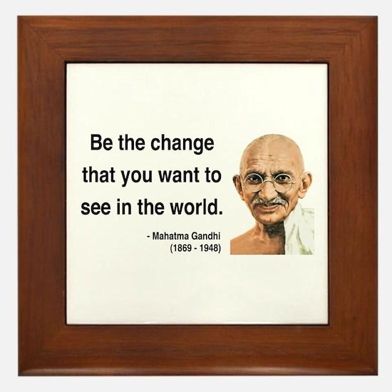 Gandhi 1 Framed Tile
