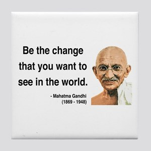 Gandhi 1 Tile Coaster