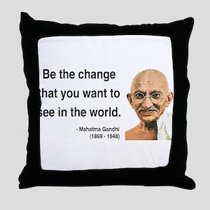 Gandhi 1 Throw Pillow
