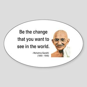 Gandhi 1 Oval Sticker