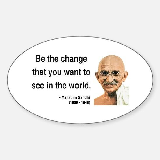 Gandhi 1 Oval Decal