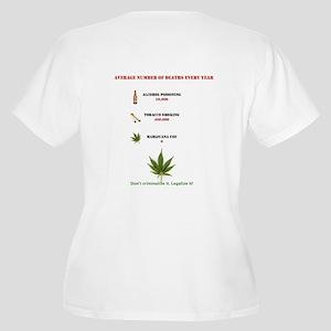 Legalize It Women's Plus Size V-Neck T-Shirt
