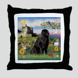 Castle & Newfie Throw Pillow