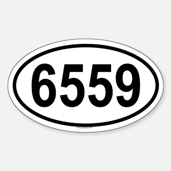 6559 Oval Decal