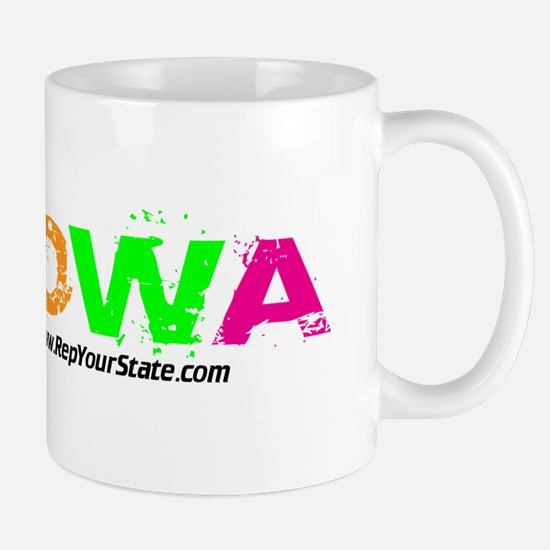 Colorful Iowa Mug