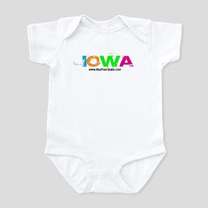 Colorful Iowa Infant Bodysuit