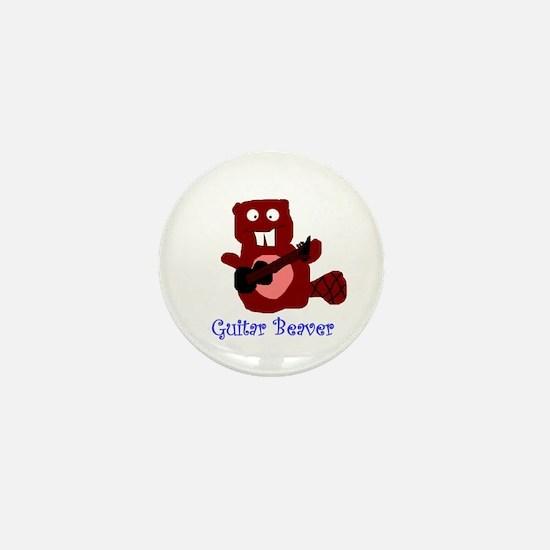 guitar beaver Mini Button