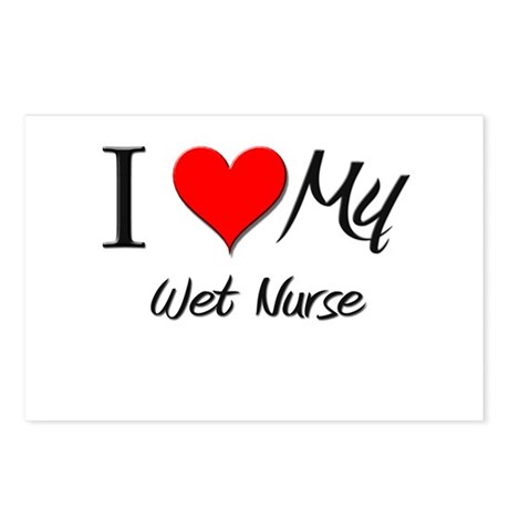 I Heart My Wet Nurse Postcards (Package of 8)