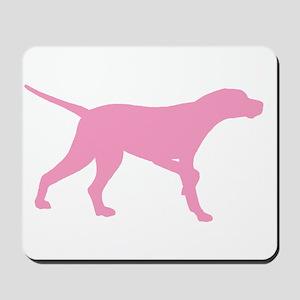 Pink Pointer Dog Mousepad