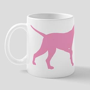 Pink Pointer Dog Mug
