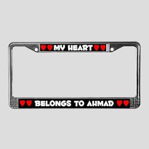 My Heart: Ahmad (#001) License Plate Frame