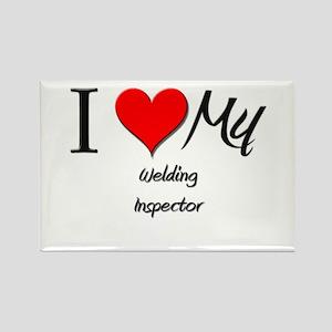 I Heart My Welding Inspector Rectangle Magnet