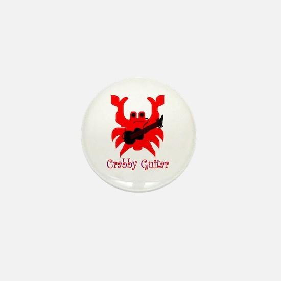 crabby guitar Mini Button