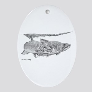 Brook Trout Oval Ornament