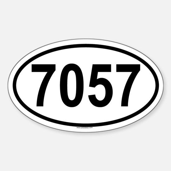 7057 Oval Decal