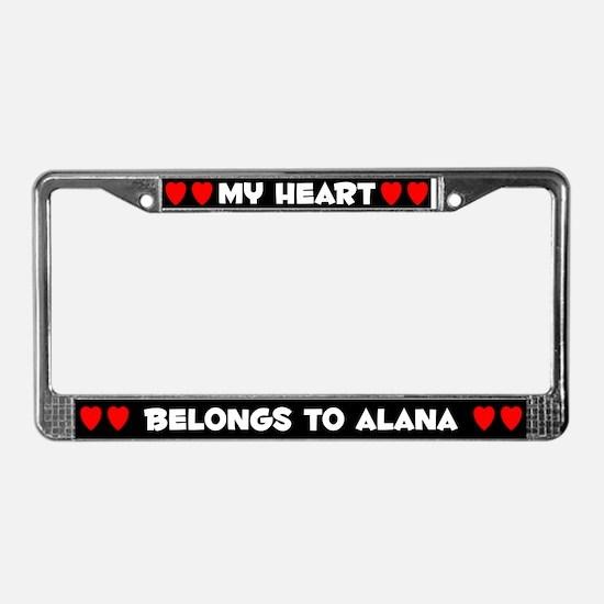 My Heart: Alana (#001) License Plate Frame