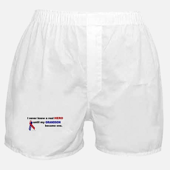 Never Knew A Hero.....Grandson (ARMY) Boxer Shorts