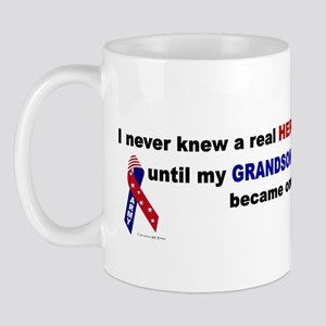 Never Knew A Hero.....Grandson (ARMY) Mug