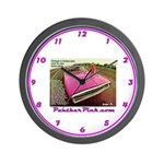 Panther Pink Wall Clock