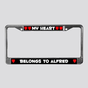 My Heart: Alfred (#001) License Plate Frame