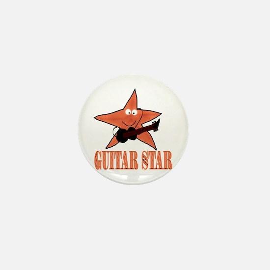 guitar star Mini Button