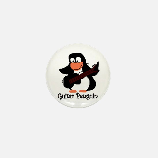 guitar penguin Mini Button