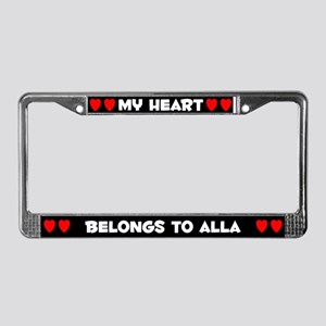 My Heart: Alla (#001) License Plate Frame