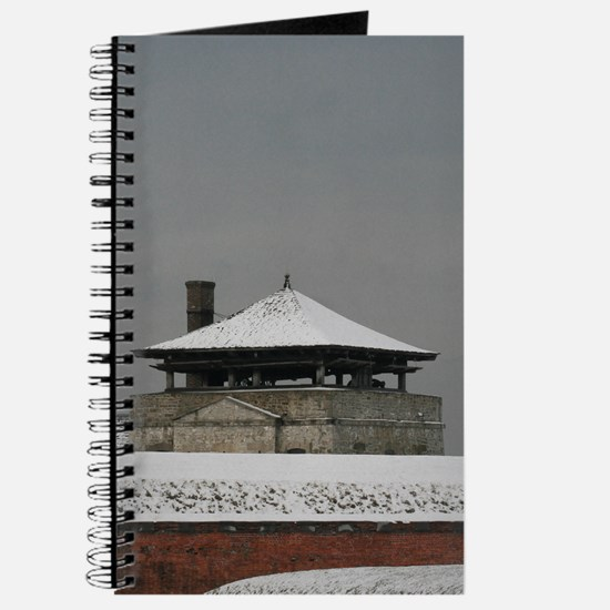 Old Fort Niagara Guardhouse in Winter Journal