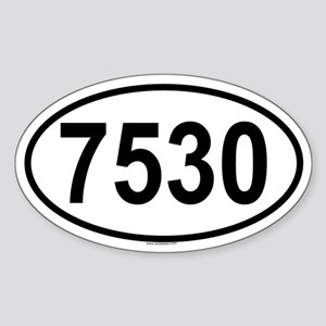 7530 Oval Sticker