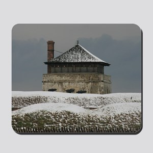 Old Ft Niagara Guardhouse Winter Photograph Mousep