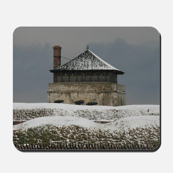 Old Ft Niagara Guardhouse Winter Photograph Mousep