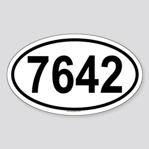 7642 Oval Sticker