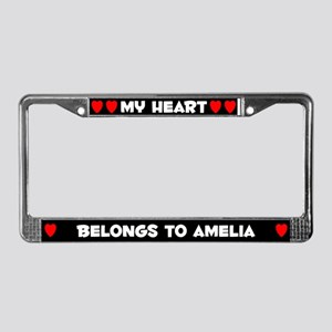 My Heart: Amelia (#001) License Plate Frame