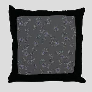 Atomic Boomerang Midcentury Modern Throw Pillow