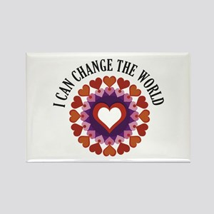 I can change the world Rectangle Magnet