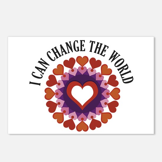 I can change the world Postcards (Package of 8)