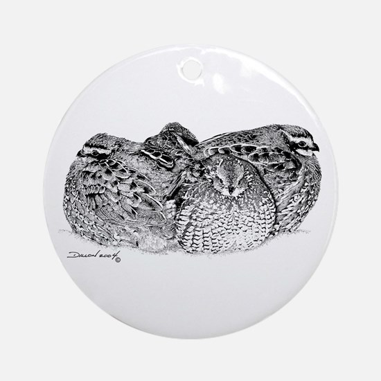 Bob White Quail Ornament (Round)