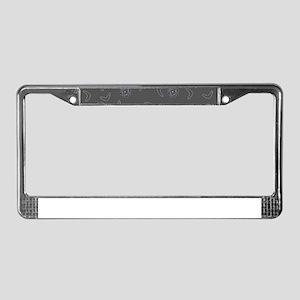 Atomic Boomerang Midcentury Mo License Plate Frame